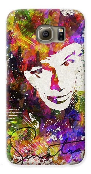 Frank Sinatra In Color Galaxy S6 Case by Aged Pixel