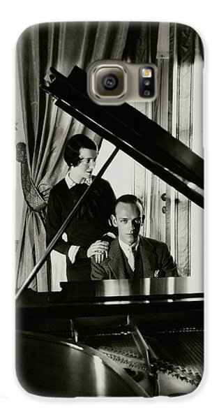 Fred And Adele Astaire At A Piano Galaxy S6 Case by Cecil Beaton