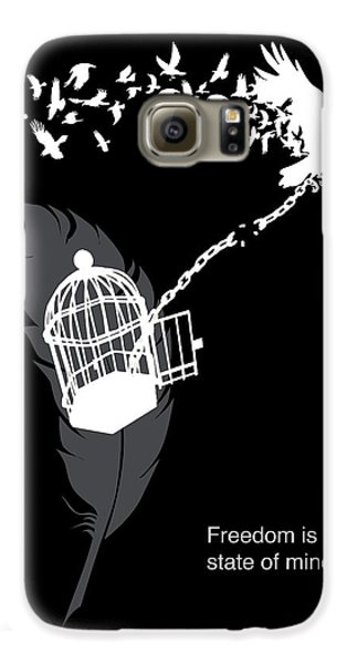 Crow Galaxy S6 Case - Freedom Is A State Of Mind by Sassan Filsoof