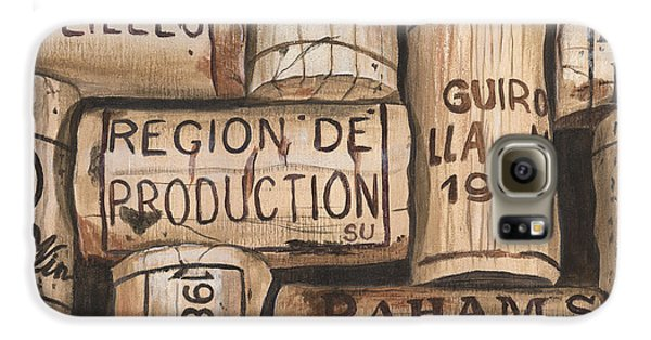 Food And Beverage Galaxy S6 Case - French Corks by Debbie DeWitt