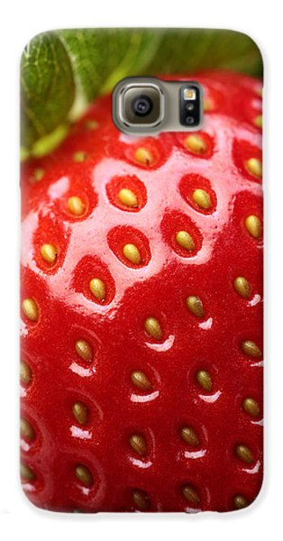 Strawberry Galaxy S6 Case - Fresh Strawberry Close-up by Johan Swanepoel