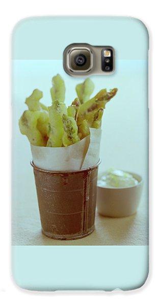 Asparagus Galaxy S6 Case - Fried Asparagus by Romulo Yanes