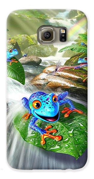 Frogs Galaxy S6 Case - Frog Capades by Jerry LoFaro