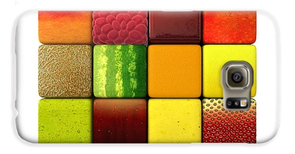 Fruit Cubes Galaxy S6 Case by Allan Swart