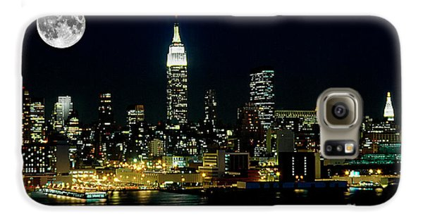 Full Moon Rising - New York City Galaxy S6 Case by Anthony Sacco