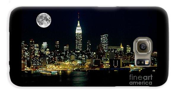 Full Moon Rising - New York City Galaxy S6 Case