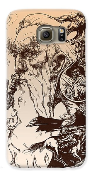 Wizard Galaxy S6 Case - gandalf- Tolkien appreciation by Derrick Higgins