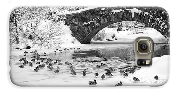 Gapstow Bridge In Snow Galaxy S6 Case by Dave Beckerman