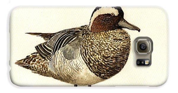 Duck Galaxy S6 Case - Garganey Duck by Juan  Bosco