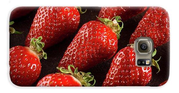 Gariguette Strawberries Galaxy S6 Case