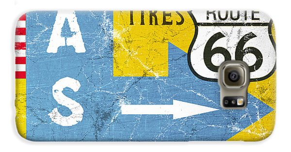 Truck Galaxy S6 Case - Gas Next Exit- Route 66 by Linda Woods