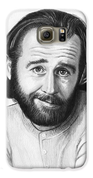 George Carlin Portrait Galaxy S6 Case by Olga Shvartsur