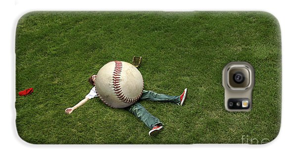 Baseball Players Galaxy S6 Case - Giant Baseball by Diane Diederich
