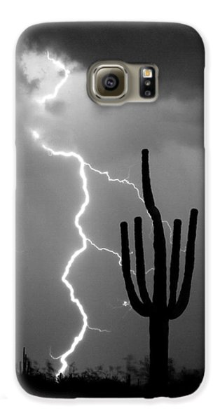 Giant Saguaro Cactus Lightning Strike Bw Galaxy S6 Case by James BO  Insogna