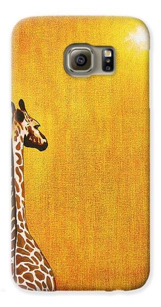 Giraffe Looking Back Galaxy S6 Case