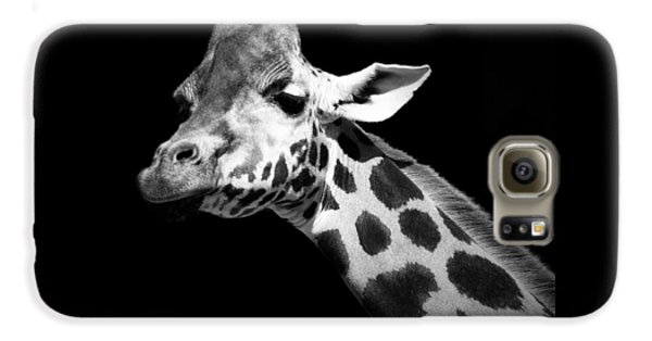 The White House Galaxy S6 Case - Portrait Of Giraffe In Black And White by Lukas Holas