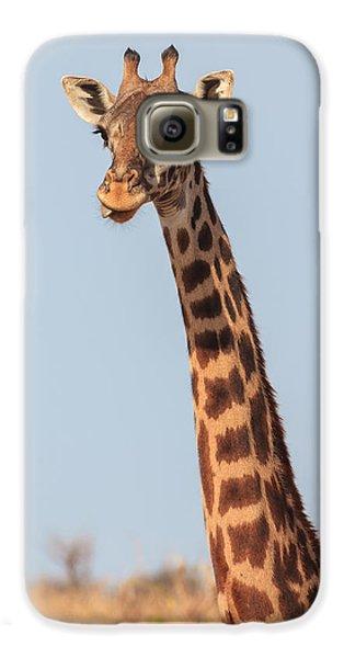 Giraffe Tongue Galaxy S6 Case by Adam Romanowicz