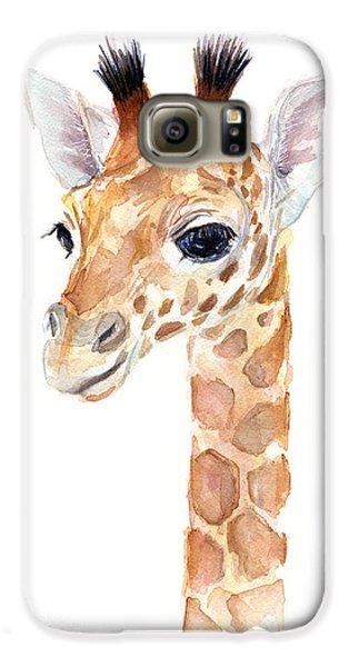 Giraffe Watercolor Galaxy S6 Case