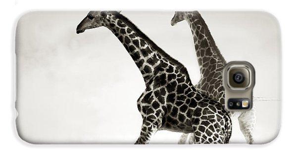 Giraffes Fleeing Galaxy S6 Case by Johan Swanepoel