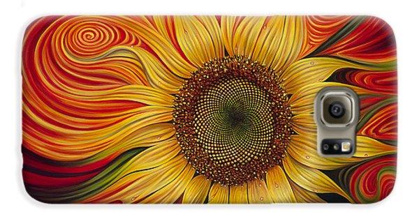 Floral Galaxy S6 Case - Girasol Dinamico by Ricardo Chavez-Mendez