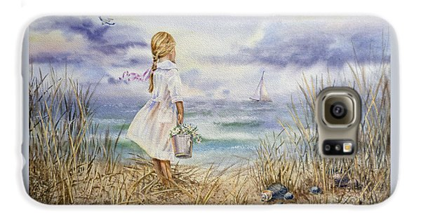 Girl At The Ocean Galaxy S6 Case by Irina Sztukowski