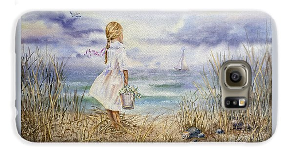 Girl At The Ocean Galaxy S6 Case