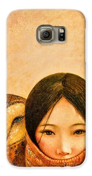 Girl With Owl Galaxy S6 Case by Shijun Munns