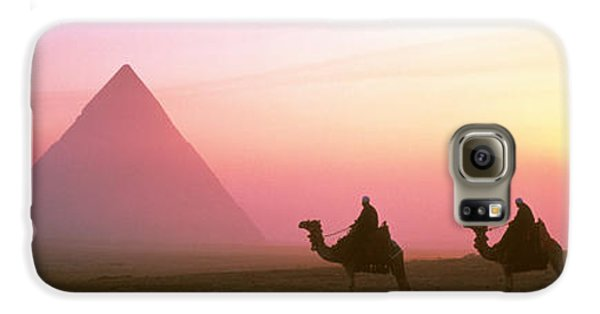 Giza Pyramids Egypt Galaxy S6 Case by Panoramic Images
