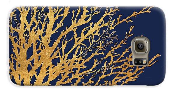 Gold Medley On Navy Galaxy S6 Case by Lanie Loreth