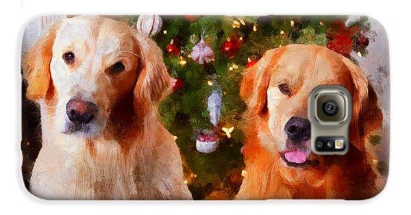 Golden Christmas Galaxy S6 Case