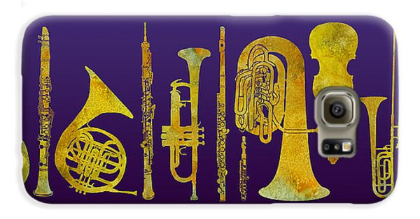 Trombone Galaxy S6 Case - Golden Orchestra by Jenny Armitage