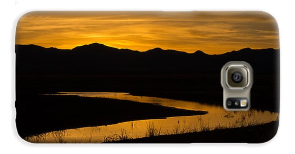 Golden Wetland Sunset Galaxy S6 Case
