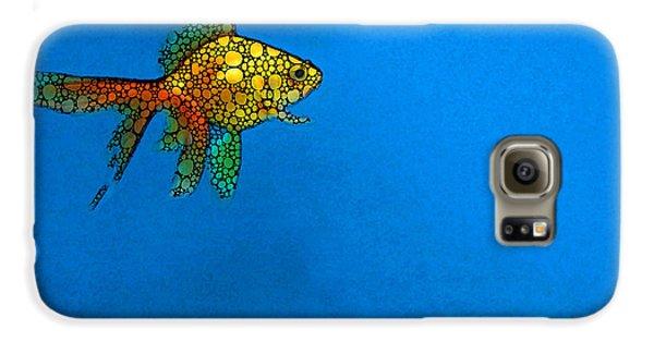 Goldfish Study 4 - Stone Rock'd Art By Sharon Cummings Galaxy S6 Case by Sharon Cummings