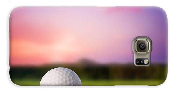 Golf Ball On Tee At Sunset Galaxy S6 Case
