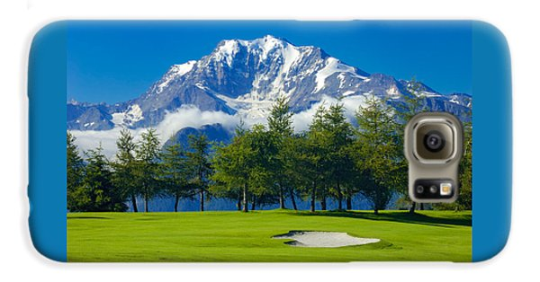 Golf Course In The Mountains - Riederalp Swiss Alps Switzerland Galaxy S6 Case