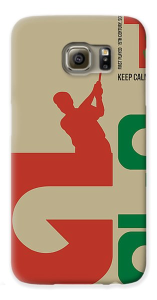 Golf Poster Galaxy S6 Case by Naxart Studio