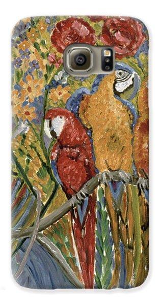 Macaw Galaxy S6 Case - Good Gossip by Patricia Eyre