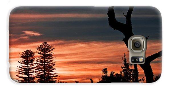Galaxy S6 Case featuring the photograph Good Night Trees by Miroslava Jurcik