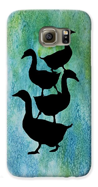 Goose Pile On Aqua Galaxy S6 Case by Jenny Armitage