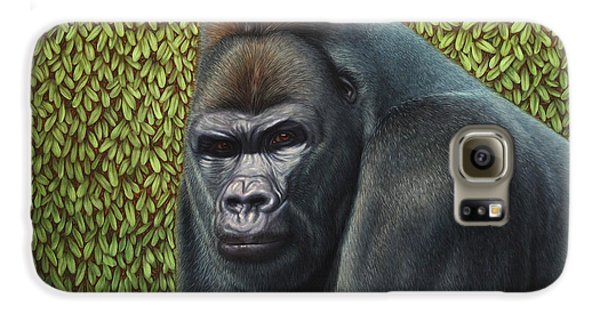 Ape Galaxy S6 Case - Gorilla With A Hedge by James W Johnson
