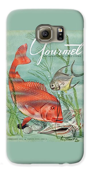 Rolling Stone Magazine Galaxy S6 Case - Gourmet Cover Featuring A Snapper And Pompano by Henry Stahlhut