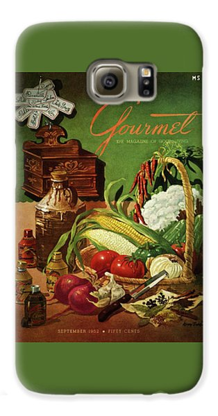 Gourmet Cover Featuring A Variety Of Vegetables Galaxy S6 Case by Henry Stahlhut