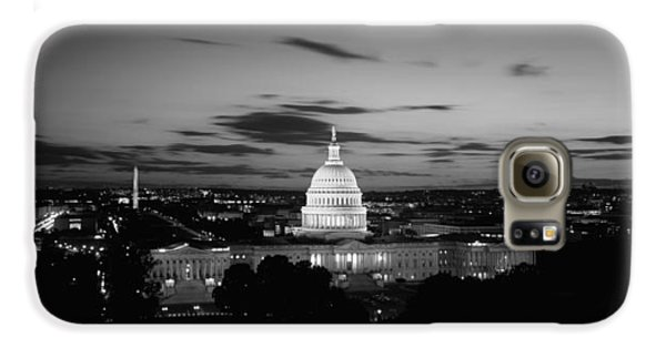 Government Building Lit Up At Night, Us Galaxy S6 Case by Panoramic Images