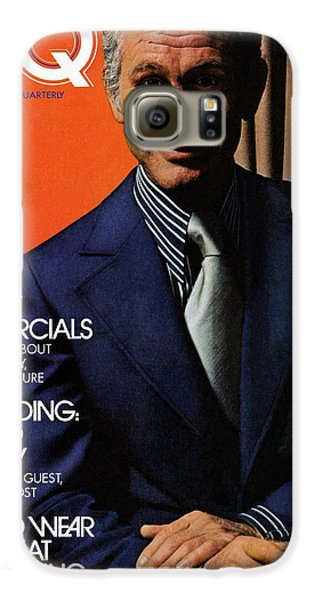 Gq Cover Of Johnny Carson Wearing Suit Galaxy S6 Case by Bruce Bacon