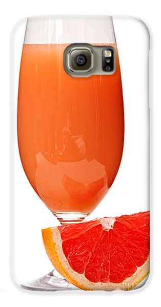 Grapefruit Juice In Glass Galaxy S6 Case by Elena Elisseeva