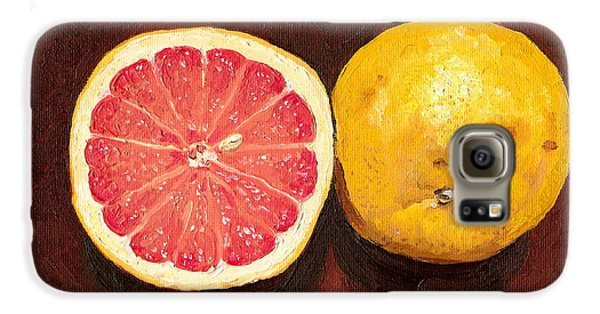 Grapefruits Oil Painting Galaxy S6 Case by