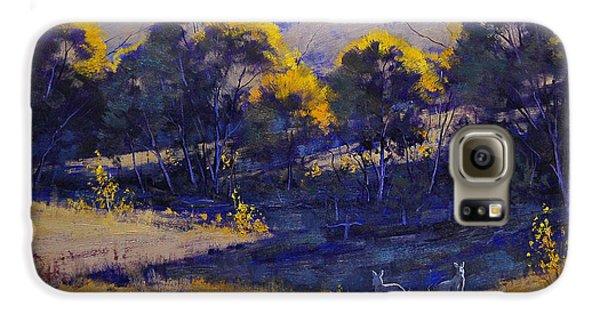 Kangaroo Galaxy S6 Case - Grazing Kangaroos by Graham Gercken