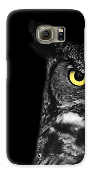 Owl Galaxy S6 Case - Great Horned Owl Photo by Stephanie McDowell