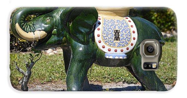 Decorative Galaxy S6 Case - Green Elephant  by Doug Grey