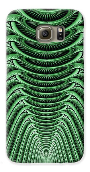 Galaxy S6 Case featuring the digital art Green Hall by Anastasiya Malakhova